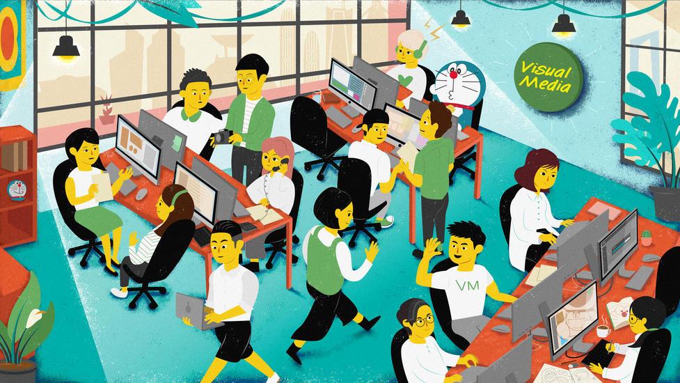 十一視頻Visual media|企業形象插畫