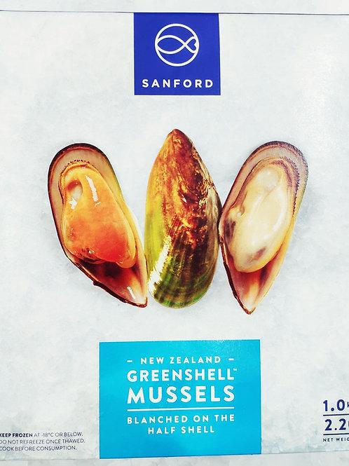 Half shell green lip mussel (1kg)