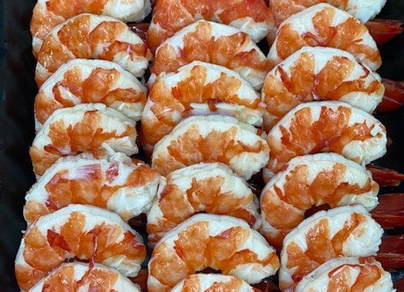 Cooked Tiger Prawns - peel tail on (500 Grams)