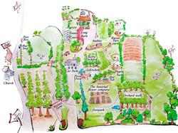 Walnut Farm Glamping Site Map