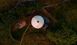 Pippin Yurt Aerial View