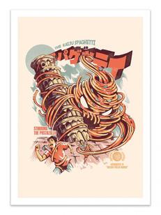 art-poster-the-kaiju-spaghetti-ilustrata.jpg
