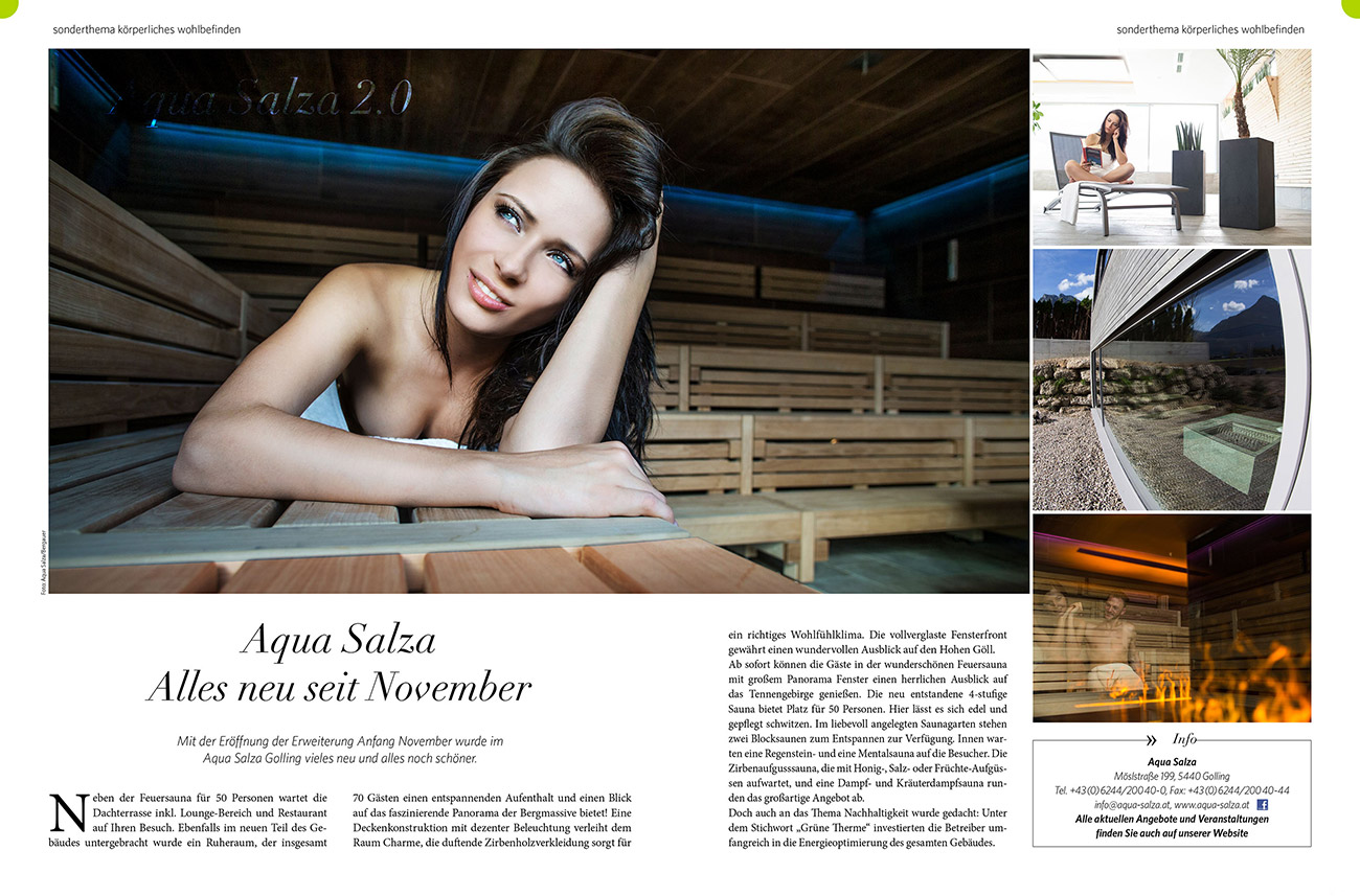 Werbefotografie Aqua Salza