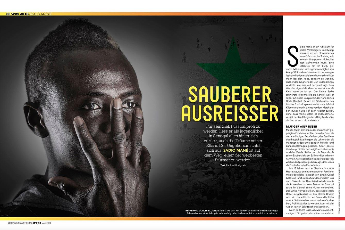 Fußballspieler Mané in Salzburg