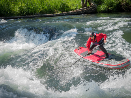 How to fall whitewater paddle boarding