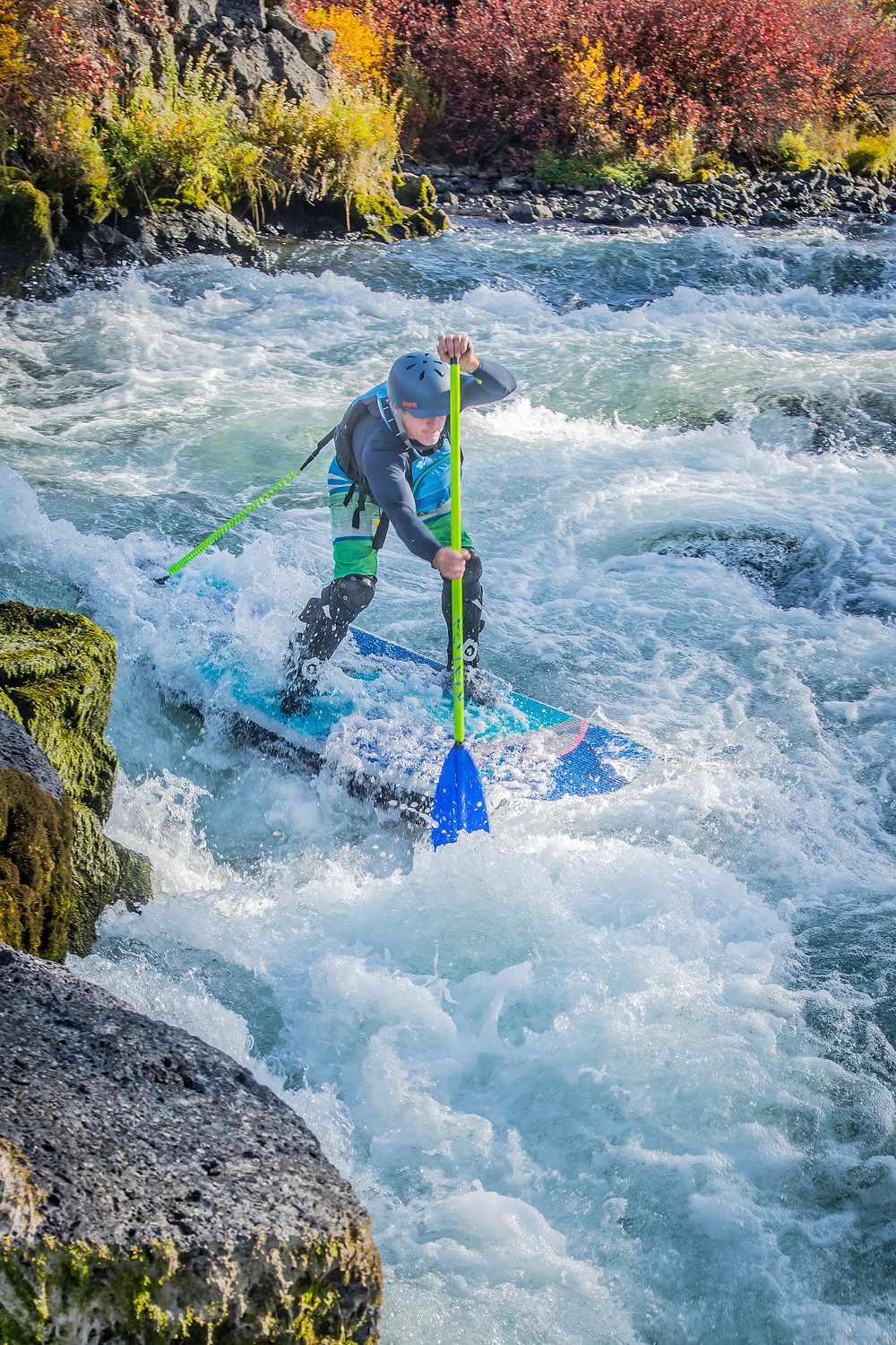whitewater SUP Big Eddy with Paul Clark