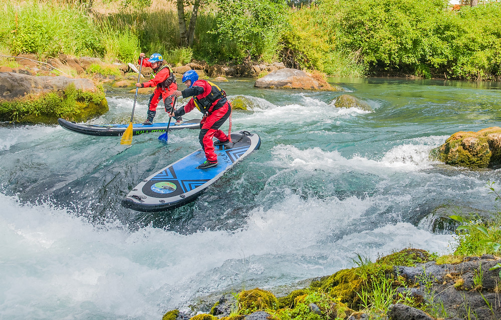 whitewater paddle boarding on the White Salmon River, with Paul Clark