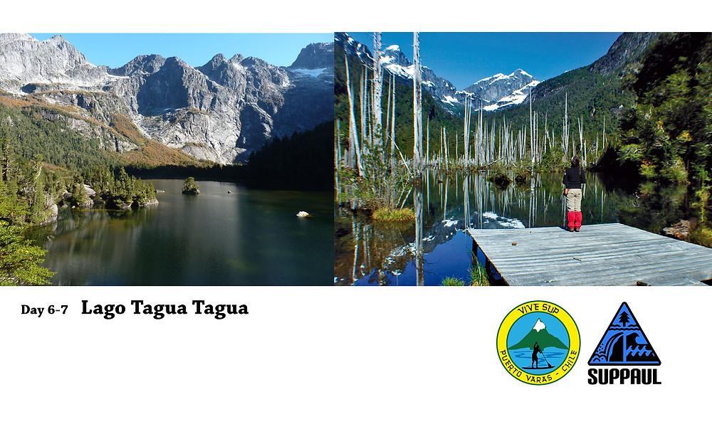 Lago Tagua Tagua paddle boarding
