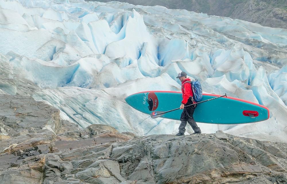 Paddle boarding near the Mendenhall Glacier, Alaska. Paul Clark SUPPAUL