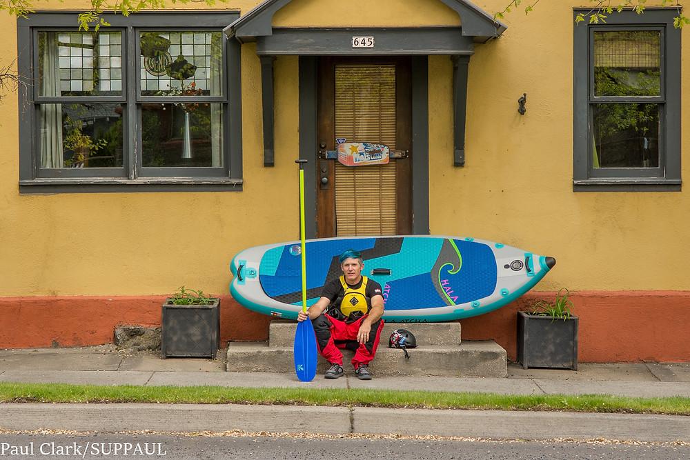 Paul Clark is SUPPAUL. Paddle boarding in Bend, Oregon