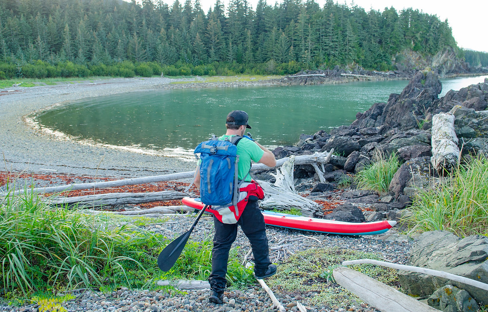 Wilderness camping on the Inside Passage, Alaska. With Paul Clark, SUPPAUL