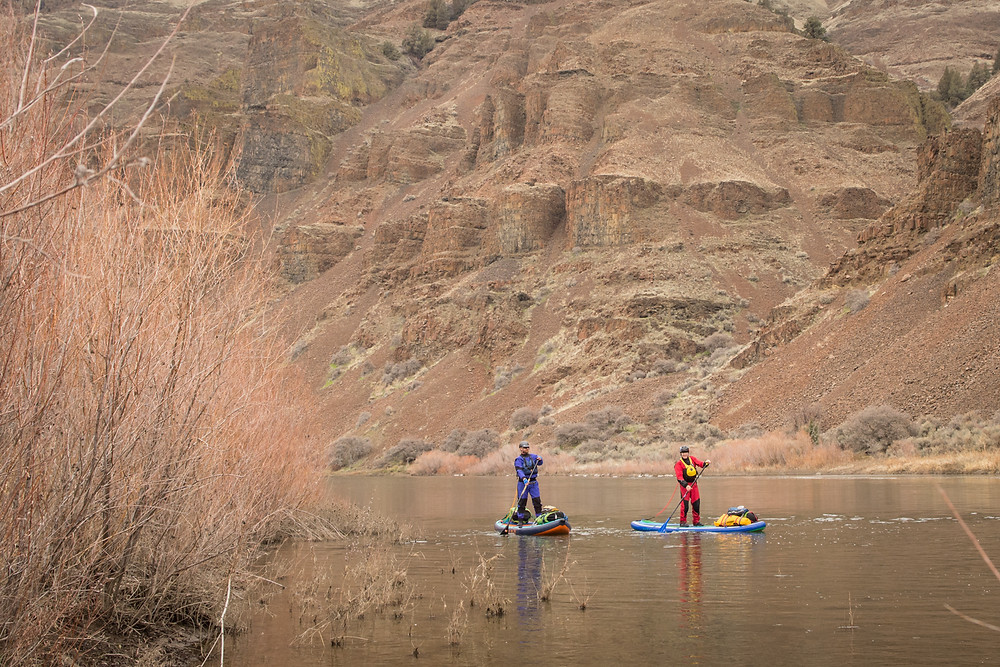 River paddle boarding on the John Day, Oregon. Photo by Paul Clark / SUPPAUL