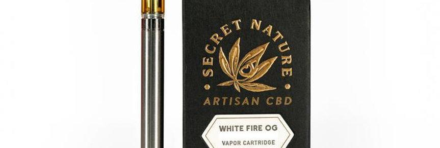 Secret Nature · White Fire OG Full Spectrum Organic CBD Cartridge (500mg)