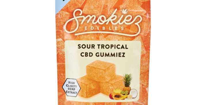 Smokiez Edibles · Sour Tropical Fruit Gummiez (250mg)