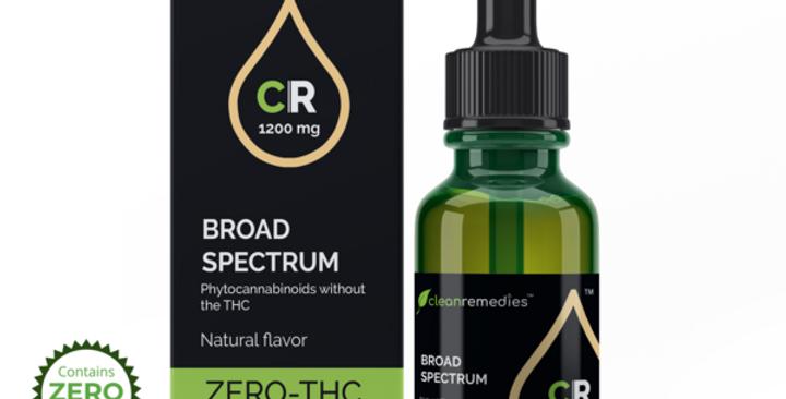 Clean Remedies · Broad Spectrum Hemp Oil Tincture (1200mg)