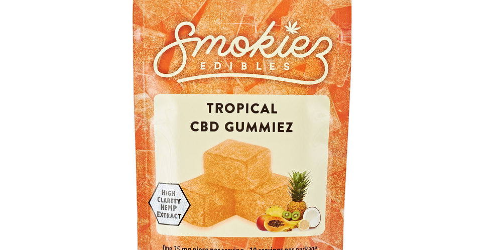 Smokiez Edibles · Tropical Fruit Gummiez (250mg)