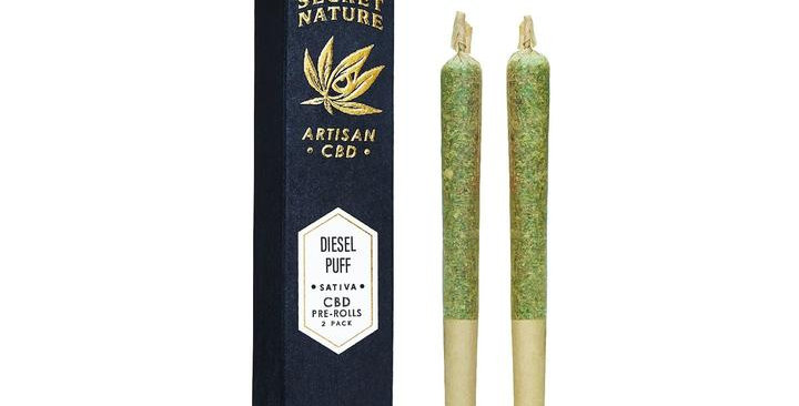 Secret Nature · Diesel Puff CBD Hemp Pre-Rolled Joints (2 Pack)