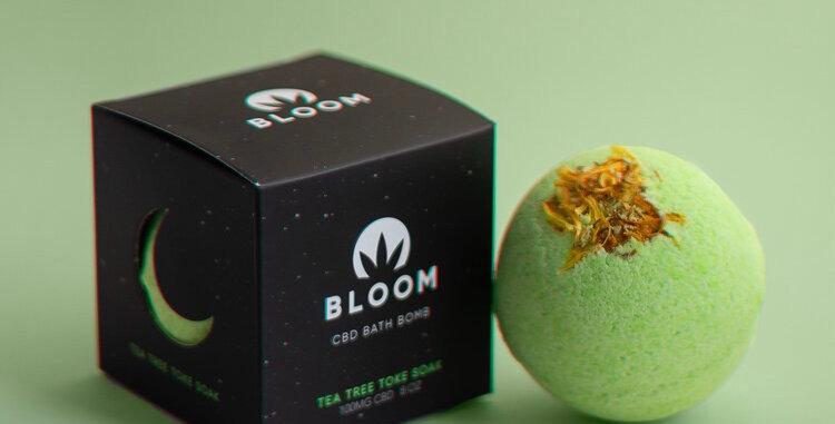 Bloom · Tea Tree Toke Soak CBD Bath Bomb (100mg)