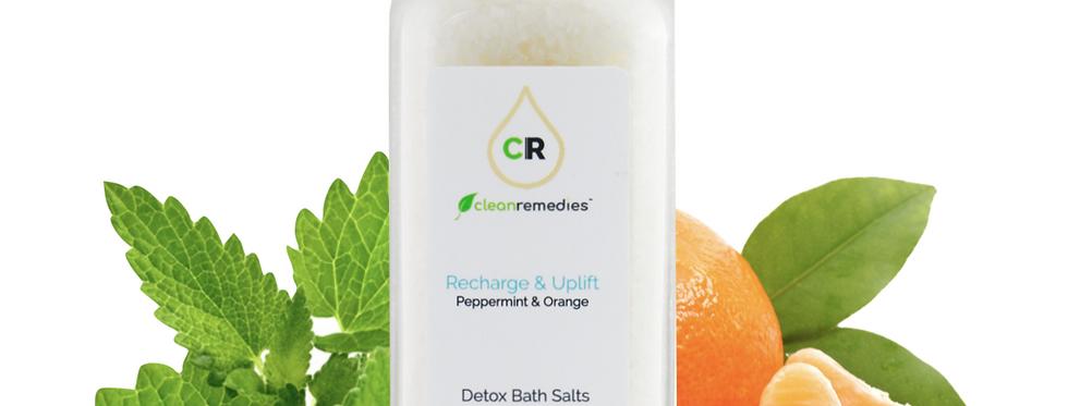 Clean Remedies · CBD Detox Peppermint & Orange Bath Salts (150mg)