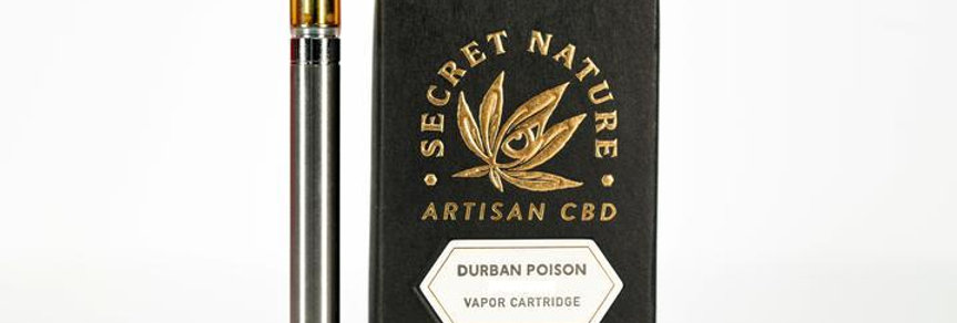 Secret Nature · Durban Poison Full Spectrum Organic CBD Cartridge (500mg)