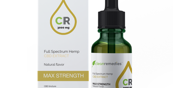 Clean Remedies · Max Strength Full Spectrum Hemp CBD Extract (3000mg)