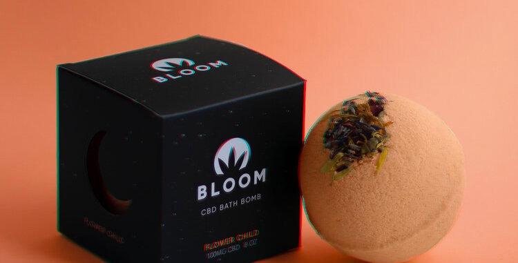 Bloom · Flower Child CBD Bath Bomb (100mg)