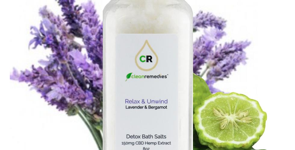 Clean Remedies · CBD Detox Lavender & Bergamot Bath Salts (150mg)