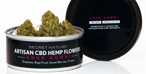 Secret Nature · Sour Gummi Organic CBD Hemp Flower