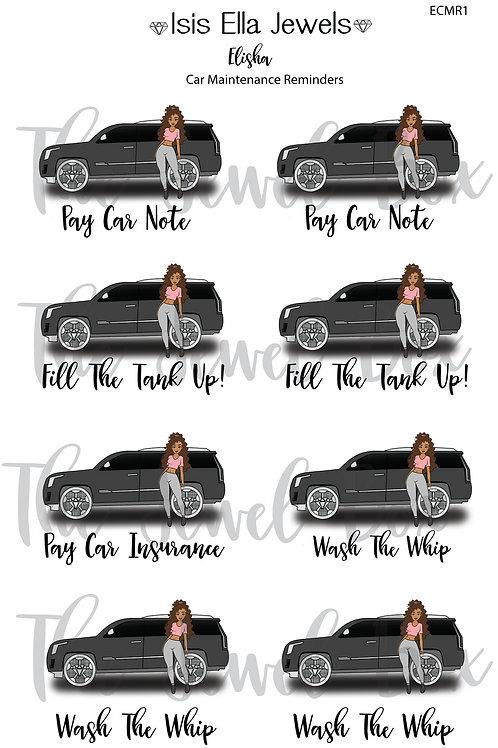 Elisha Car Reminders Stickers