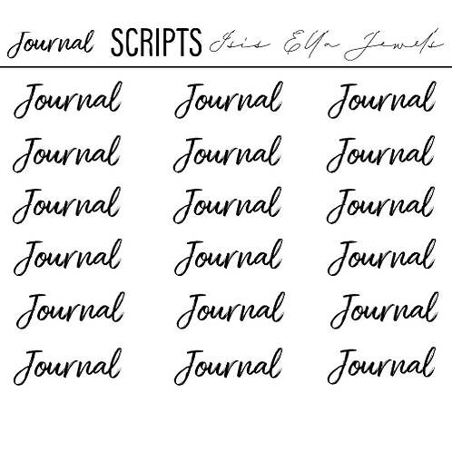 Journal Scripts Stickers