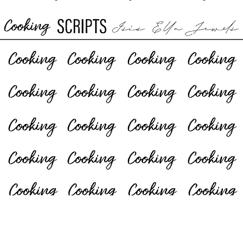Cooking Script Stickers