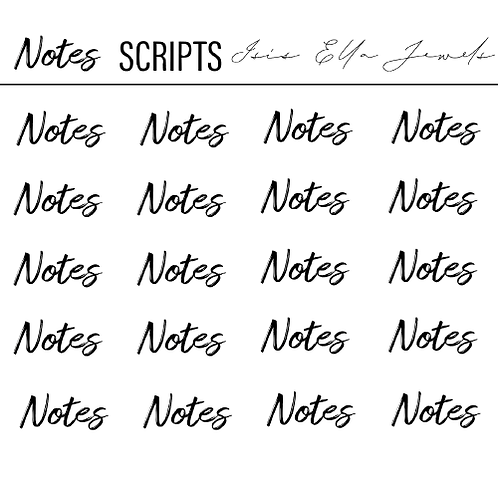 Notes Scripts Stickers