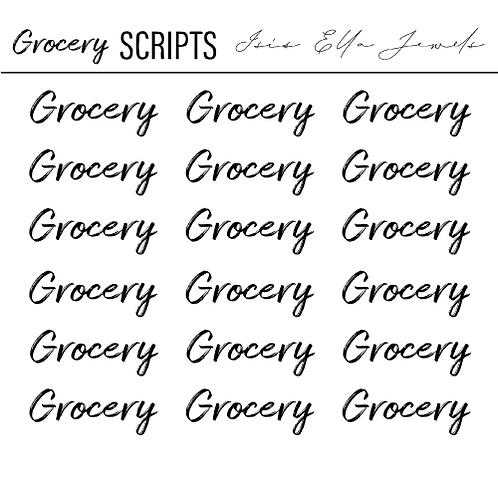Grocery Scripts Stickers