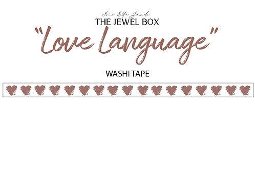 "TJB ""Love Language"" Washi Tape"