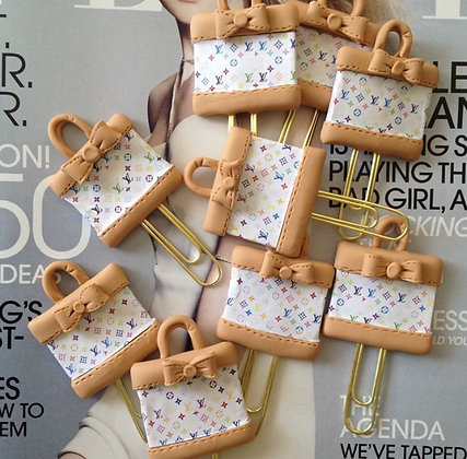 LV White Bags Clips