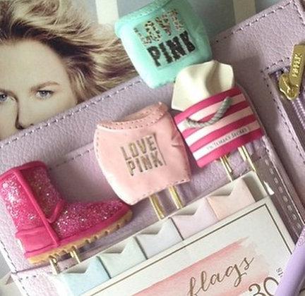 Love Pink Tote Clip