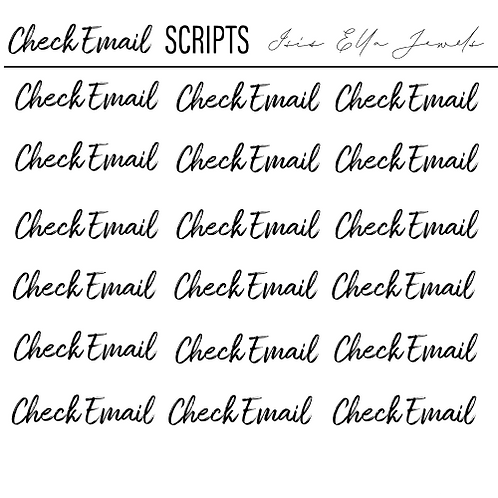 Check Email Script Stickers