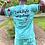 """Thumbnail: """"Catch flight not feelings""""  Teal tie dye shorts"""