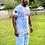 """Thumbnail: """"Catch flight not feelings"""" Sky blue tie dye Emotions shirt"""