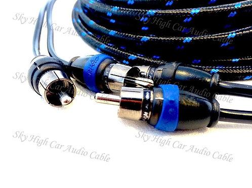 Sky High Car Audio 2-Channel Triple shielded RCAs 1.5ft-22ft