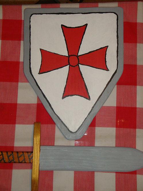 """Bouclier """"Templier"""" + Epée"""