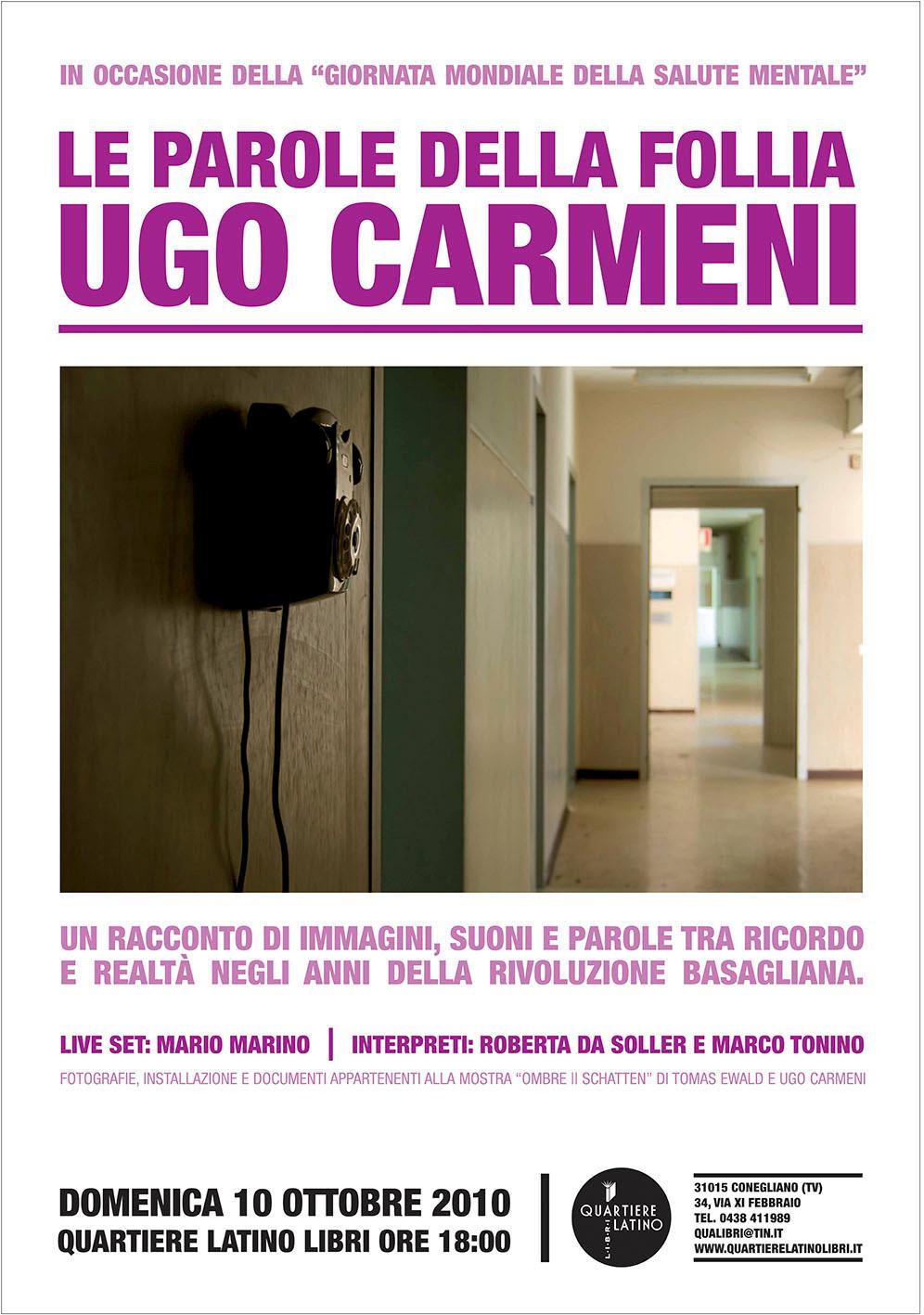 Poster of the event - Le parole della follia