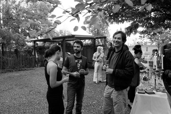 vernissage - Tomas Ewald and Ugo Carmeni with Laura Graziani