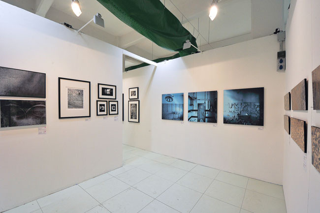 installation view - Tryptich from Ombre series