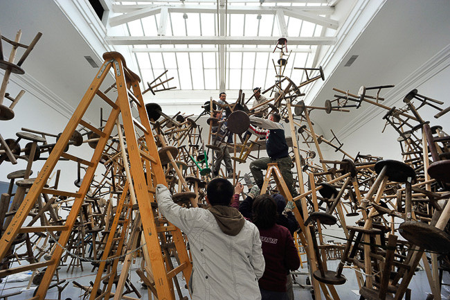 set-up Ai Weiwei installation/7