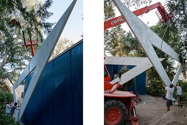 Reconstruction view - Alvar Aalto pavilion
