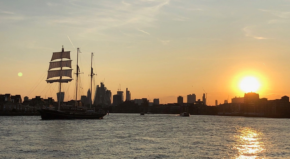 Views, London, Thames River, water view, England, sunsets