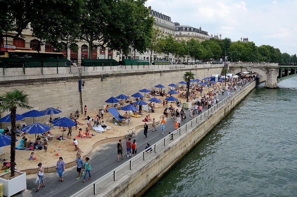 beaches, Paris, france, seine river
