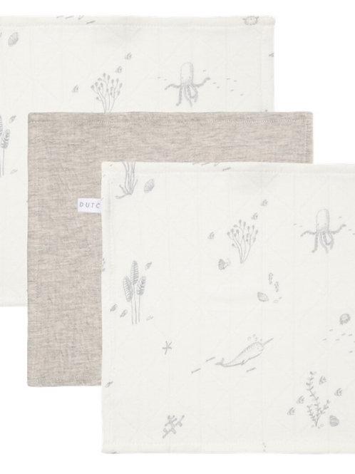 Set de 3 toallitas Blanco