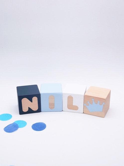 Nil - 3 letras Azul